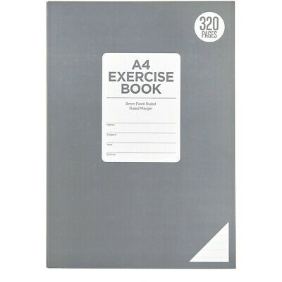 Brilliant Basics A4 Exercise Book 320 Pages - Grey