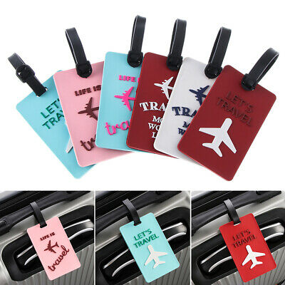 ID Address Portable Baggage Suitcase Label Letter Luggage Tag Aircraft