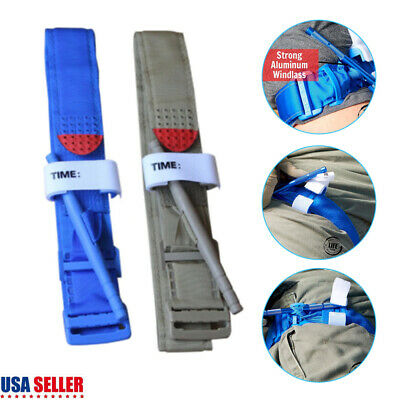 One Hand Tourniquet Combat Application First Aid Handed Emergency Strap Outdoor