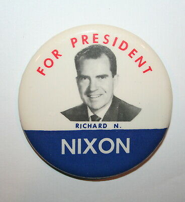 Large 1960 I/'M FOR Richard NIXON Campaign Button 2329