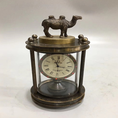 Collectables old delicate brass mechanical camel horologe