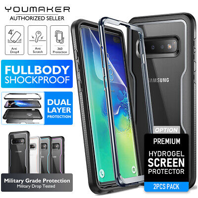 YOUMAKER Samsung Galaxy S10 Plus S10 Clear Shockproof Full-body Case Cover