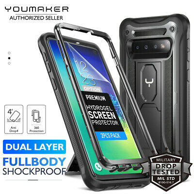 YOUMAKER Samsung Galaxy S10 Plus S10E HEAVY DUTY Shockproof KickStand Case Cover