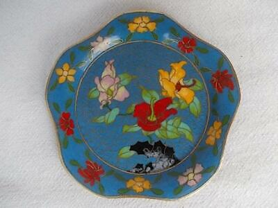 252 /  Small Vintage Chinese Cloisonne Dish .