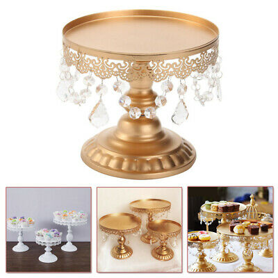 With Crystal Round Cake Stand Display Dessert Holder Wedding Party Cake Plate