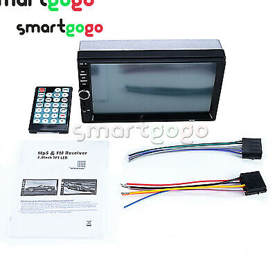 Car Radio MP5 7inch 2-Din HD Touch Stereo Bluetooth 3.0 Without Camera BSG