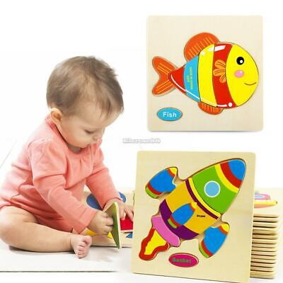 Three-dimensional Wooden Puzzle Educational Toys Early Baby Development ElR8