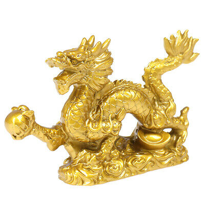 Chinese Zodiac Twelve Statue Gold Dragon Statue Animal Ornament Home  VX