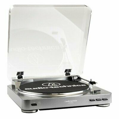 Audio Technica AT-LP60-USB! Fully Auto Belt Drive Turntable! Silver! New Stylus!