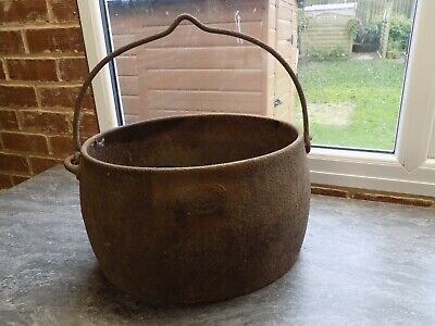 Vintage Antique Victorian? Original Cast Iron Cooking Pot - Baldwin?