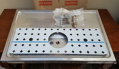 Franke Stainless Steel Bar Draughting Drip Tray with Glass Rinse.