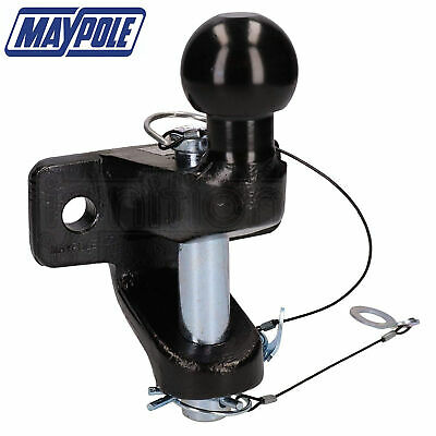 Bar 50mm Tow Ball Clevis EU Approved Ball and Pin Hitch 3500kg Maypole