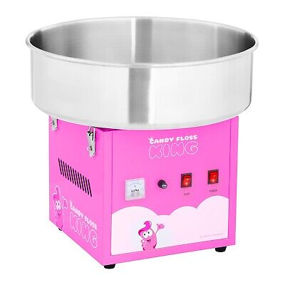 Commercial Candy Floss Machine Spit Protection Cotton Candy Machine  Pink