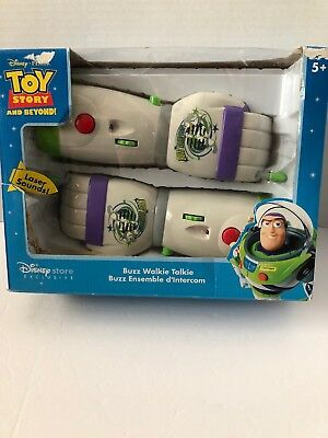 DISNEY PIXAR TOY STORY Buzz Walkie Talkie Set Opened And Tested DAMAGED BOX