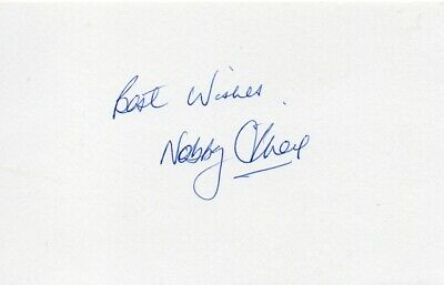 Nobby Stiles Autograph - World Cup 1966 - Signed 6x4 Card 1 - Handsigned - AFTAL