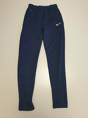 F968 Boys Nike Navy Skinny Tracksuit Bottoms Xl Age 15-16 Yrs W30 L29