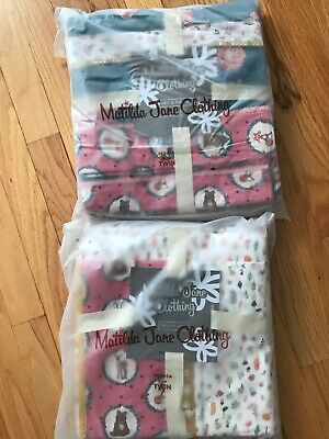 NWT Matilda Jane Fall Friends Duvet Cover with Pillow Shams & Sheet Set TWIN