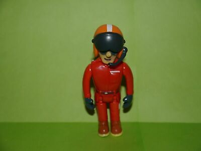 Fireman Sam Figures /_ Fireman Sam /_ large movable figure /_ 9 cm high /_ used