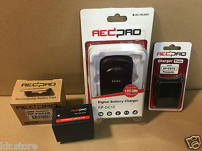 Pack Chargeur Batterie/ Battery Charger REDPRO PANASONIC AG-HPX250, AG-DVX100