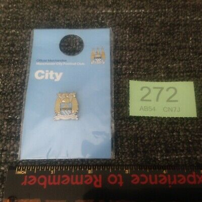 Manchester City - Badge Football Crest Official Club Pin MCFC - New & Sealed