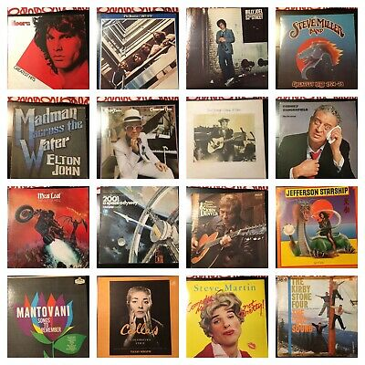 Quality Vinyl Lp Album Lot Classic Rock Pop New Wave 60s 70s 80s