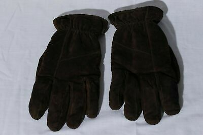 Aris 115 Women's Genuine Leather Brown Suede Gloves sz XL