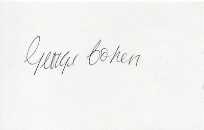 George Cohen Autograph - World Cup 1966 - Signed 6x4 Card - Handsigned - AFTAL