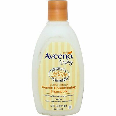 Aveeno Baby Gentle Conditioning Shampoo, With Wheat & Oat - 12 Ounce (Pack Of 3)