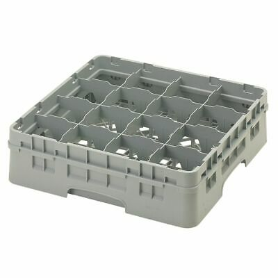 Cambro 16S418151 Camrack Soft Gray 16 Compartment Glass Rack