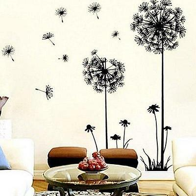 DIY Dandelion Flowers Wall Stickers Wallpaper Decor Art Decal Home Living Room L