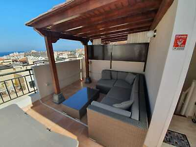 Desirable Tenerife Rooftop Terrace, 2-Bedroom, 4-bed Apartment. UK Family Home