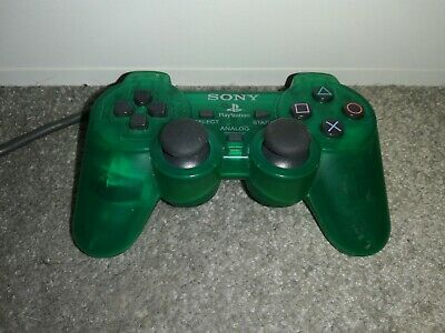 Official Sony PlayStation 1 DualShock Controller - Clear Green - PS1 / PS2 psone