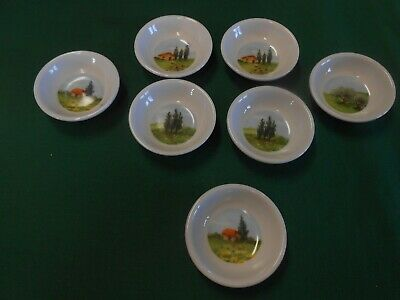 Great Set of 7 BUTTER PATS with Different Designs....FREE POSTAGE USA
