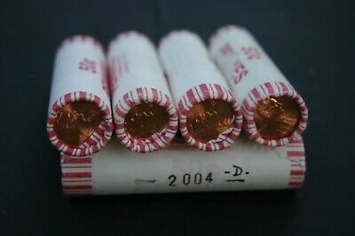 2014 P LINCOLN CENT ROLL IN ORIGINAL BANK WRAP   BU PENNY ROLLS