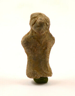 A Neolithic European Vinca Culture terracotta idol of a standing goddess