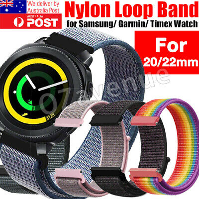 Quick Release 20mm 22mm Woven Nylon Sport Loop Watch Band Strap for Fossil Watch