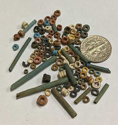 Three Grams 2500 Year old Ancient Egyptian Faience Mummy Beads Lot (#L2051)
