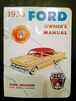 SERIES 100-900 1953  FORD TRUCK OWNER/'S MANUAL