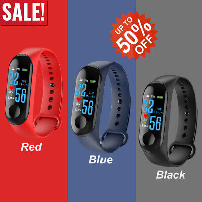 M3 For iOS Smart Watch Blood Pressure Heart Rate Monitor Bracelet Wristband 2020