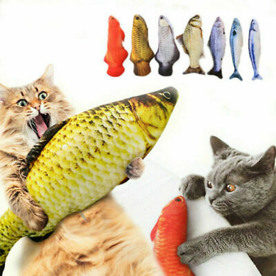 Cat Wagging Fish Realistic Plush Toy Simulation Funny Pet Cat Puppy Dog Chew Toy