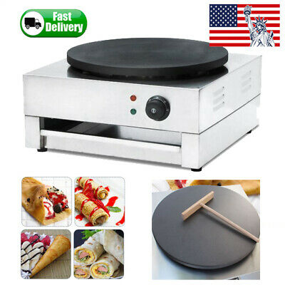 "16"" 3000W Commercial Electric Crepe Maker Baking Pancake Frying Machine Nonstick"
