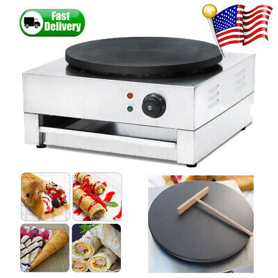 "16"" Commercial Electric Crepe Maker Baking Pancake Machine Big Hotplate Nonstick"