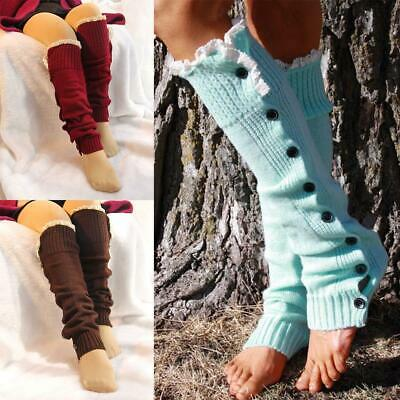 Women Casual Soft Breathable Stretchy Solid Leg Warmers Socks s2zl 04