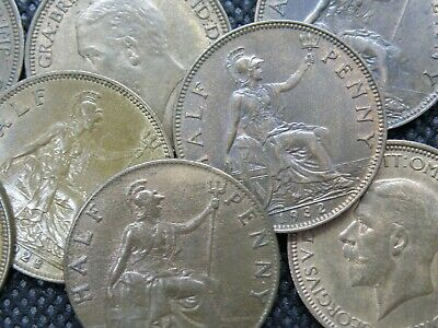 PRE-DECIMAL HALFPENNY COINS - KING GEORGE V - 1911 to 1936 - PICK YOUR COINS !