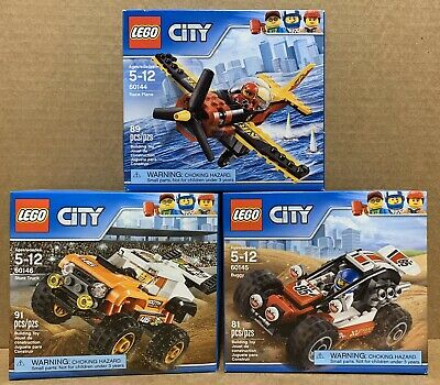 LEGO City - 60144 Race Plane - 60145 Buggy - 60146 Stunt Truck - New in Box