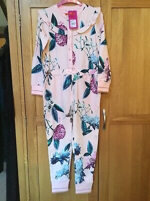 BNWT B By Ted baker Girls Hummingbird All in one suit/pyjamas sleepwear-7-8 Yrs