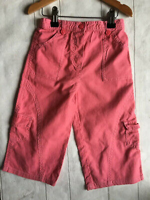 Baby Girl's Clothes 18-24 Mths - Coral Linen Wide Leg Trousers By Mothercare  🐙