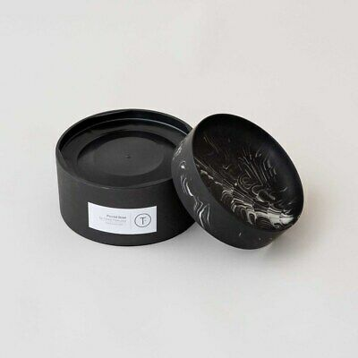 Troels Flensted Home Painted Poured Bowl Modern Black Size OS