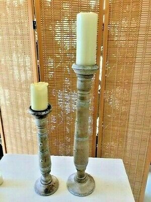 2 x Large Candle stick holders