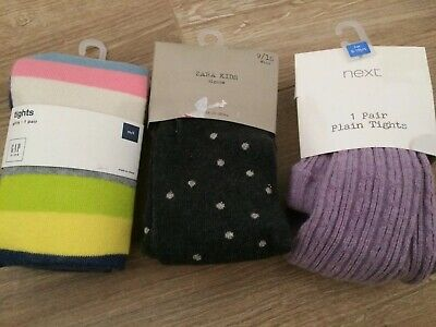 Zara Girls Tights X 3 Age 8-10 Years New In Packaging